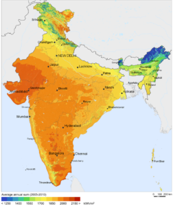 POTENTIAL OF SOLAR ENERGY IN INDIA